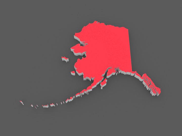 3d alaska map