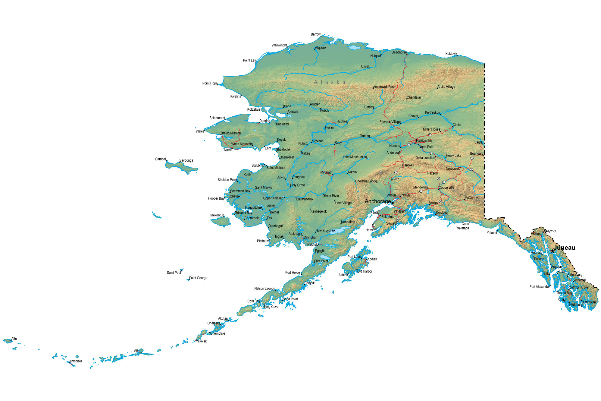 Pics Photos  United States Complete Map With Alaska