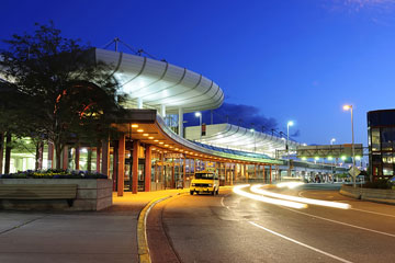 Anchorage International Airport at dawn