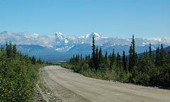 gravel highway in alaska