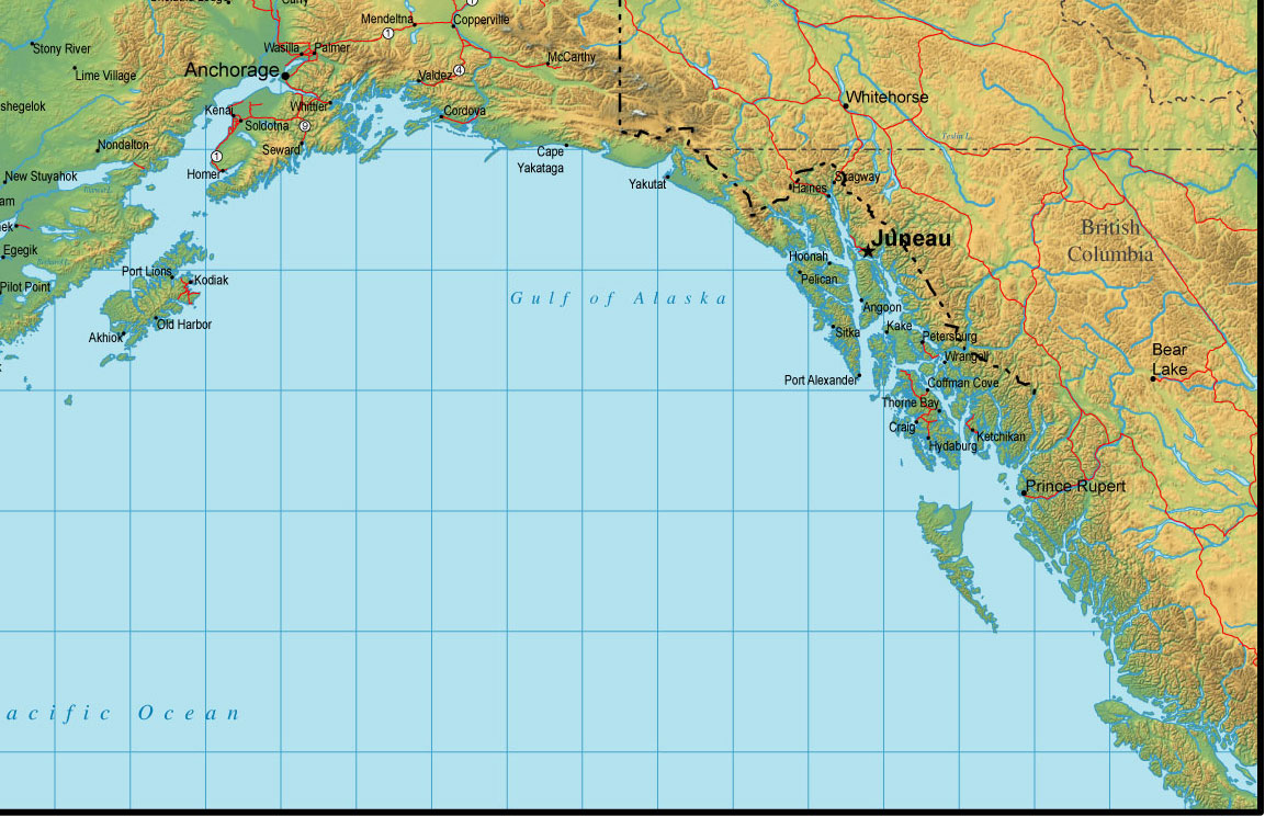 southeast Alaska map